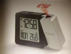 Oregon Scientific PROJI Projection Atomic Clock with Indoor Temp. RM338P Silver