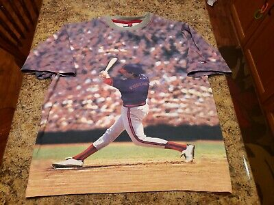 Vintage Tommy Hilfiger Baseball T Shirt All Over Print Youth Size Large Baseball Youth T-shirt