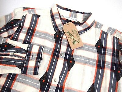 NWT Woolrich Womens Shirt M Flannel First Light Jacquard Pla