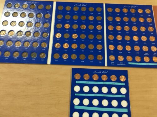 1909 - 2019 Lincoln Cent Date Set; All Years of Issue in Large Full Color Folder