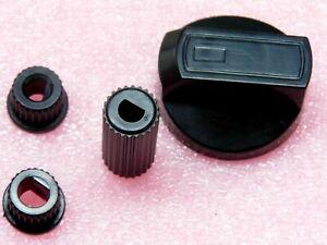 PLAQUE Manette Bouton plastique couleur noir universel pour FOUR CUISINIÈRE