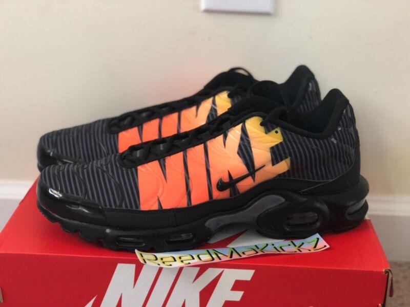Men's Nike Air Max Plus TN Striped Black Total Orange