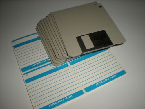 3.5 in. DSDD DS 720k formatted floppy disks. Double sided double density 2DD