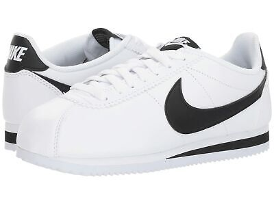 Nike Women's Classic Cortez Leather Running Shoes White/Black  Size 9.5 (B)