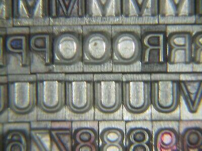 Unknown Font Name 18 Pt. - Letterpress - Metal Type - Printers Type