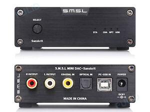 SMSL Sanskrit 6 24Bit/192KHz Hifi Digital Coaxial Optical USB Audio DAC Decoder