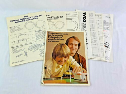 Tyco 1976 Catalog 909 & 970 Instructions Electric Racing Price List Guide
