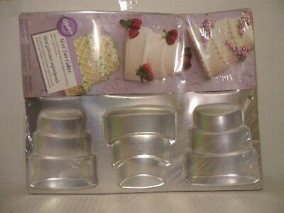 3 TIER mini WEDDING CAKE shower ANNIVERSARY favor bake sale PAN wilton