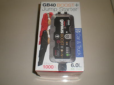 NOCO GB40 Boost Plus 12V Heavy Duty PowerSport Jump Starter lithium 1000A NEW!! - Heavy Duty Battery Charger