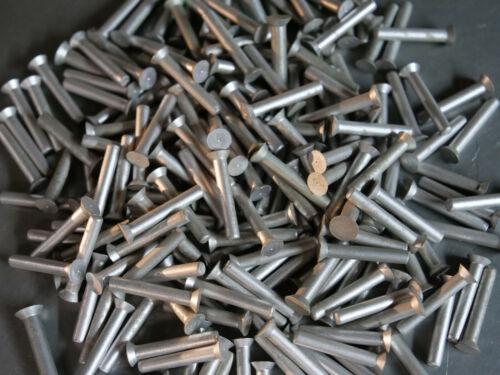 """Solid Aluminum Rivet 5/32 Dia x 1"""" Length Countersunk Head 25ea"""