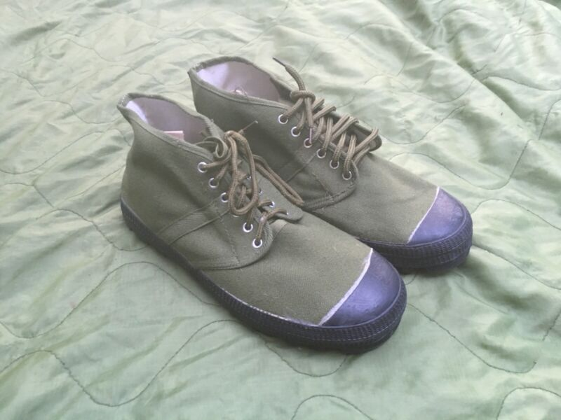 "Canvas Chicom NVA VC Boots Vietnam War (Size 10.5"")"