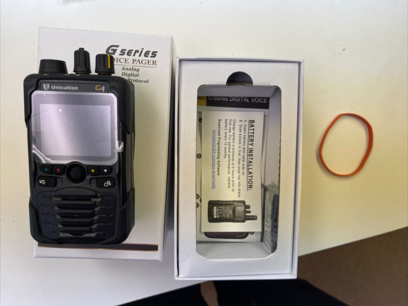 Unication G4 P25 700/800 Pager  - OPEN BOX DEMO PAGER