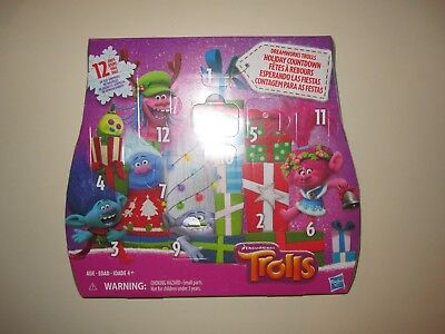 Trolls Dreamworks Advent Christmas Calendar Holiday Countdown 12 Days of Toys