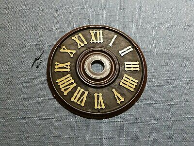 "Vintage German Cuckoo Clock Dial Parts Repair Original Face ~ 2.75"" ~ Plastic"
