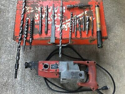 Milwaukee 5310 Rotary Hammer With Bits Chisels Point Made In Usa Works Great
