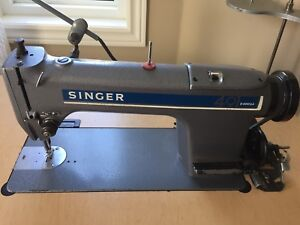 Singer 491 Industrial Sewing Machine with Table