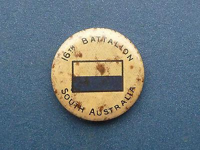 WW2 Australia home front 16th battalion pinback button