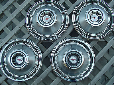 1966 CHEVROLET CHEVY BELAIR IMPALA BISCAYNE NOMAD HUBCAPS WHEEL COVERS VINTAGE