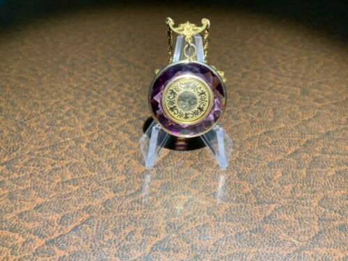 Antique, Locket, Faceted Amethyst, 1 Picture