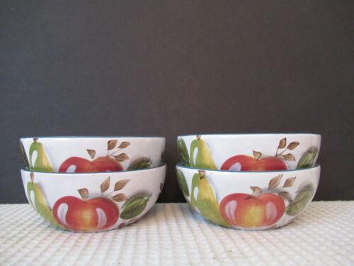 "Heritage Mint Black Forest Fruits Set of 4 (5-3/8"") Fruit/ Cereal Bowls Preowned"