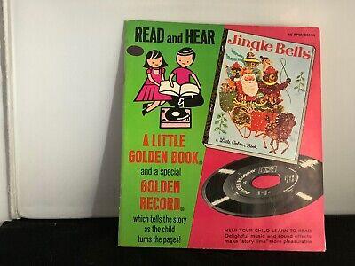 Vintage Little Golden Book + 45 RPM Record Read & Hear Jiggle Bells (Jiggle Bells)