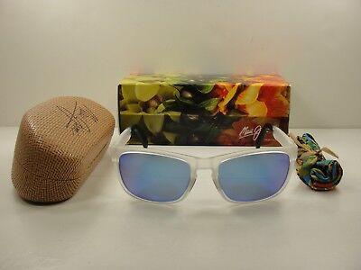 MAUI JIM SOUTH SWELL POLARIZED B755-05CM SUNGLASSES CRYSTAL/BLUE HAWAII (Swell Sunglasses)
