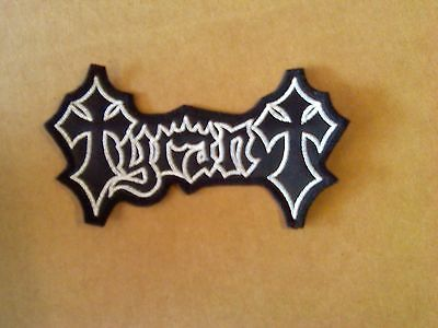 TYRANT,SEW ON WHITE EMBROIDERED PATCH