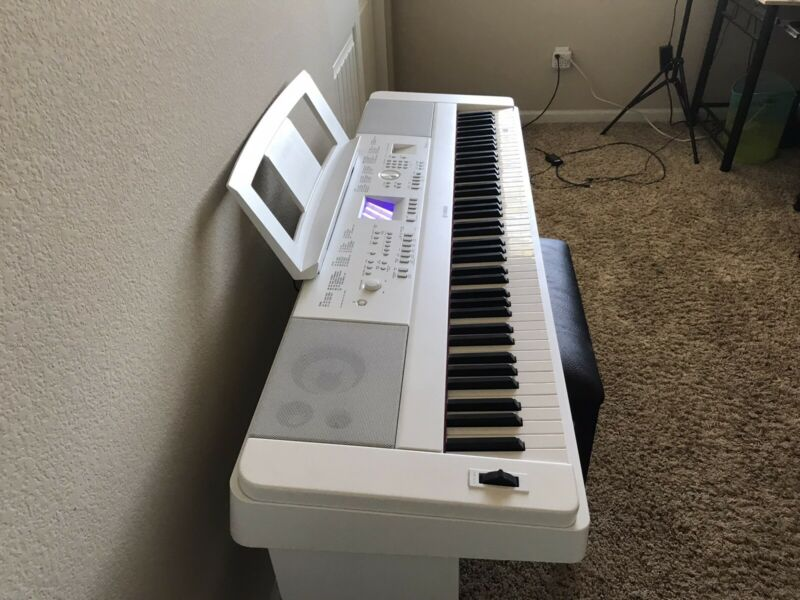 Yamaha DGX-660W Portable Digital Piano - White