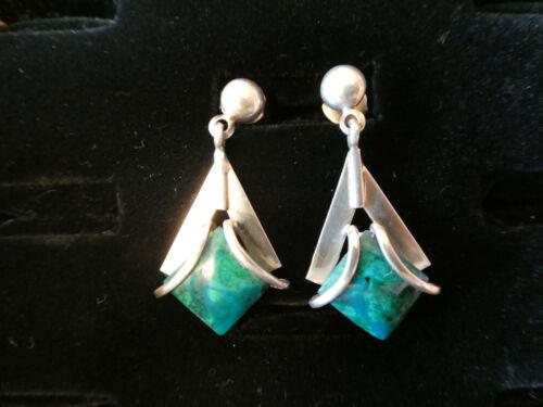 Peruvian Silver/Chrysocolla Earrings