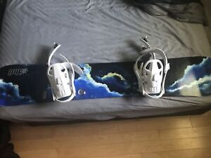 Gnu Snowboard and Vans Pro Boots