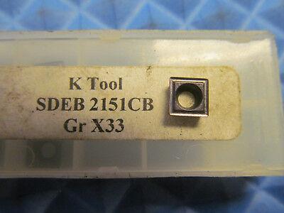 K Tool Sdeb 2151cb X33 Buy It Now 5 Inserts
