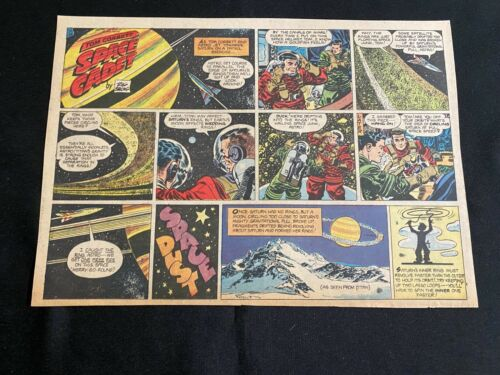 #01 TOM CORBETT, SPACE CADET Sunday Half Page Comic Strip October 28, 1951