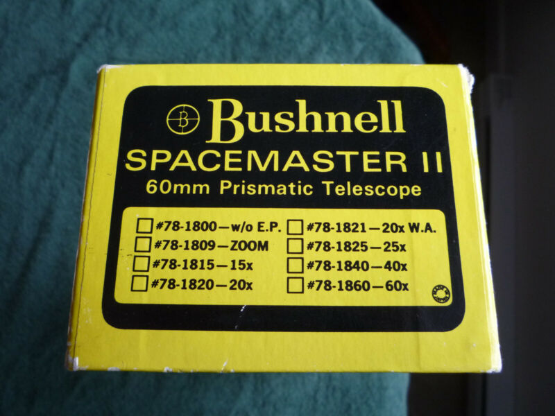 BUSHNELL SPACEMASTER 11 PRISMATIC TELESCOPE 60 MM
