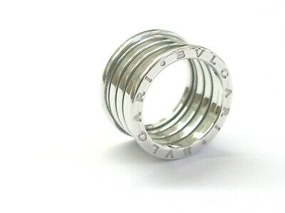 Bulgari B Zero 18Kt 10mm Ring White Gold Size 56