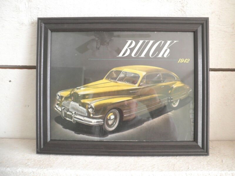 1942 Buick ORIGINAL Brochure COVER, Framed Picture: ARTWORK?ART, series 40,70,90