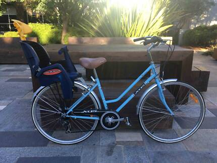 Jewel Envy ladies bike with toddler/child seat