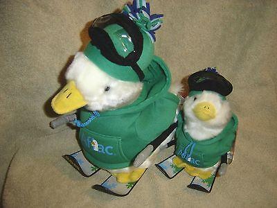 Aflac Duck Plush Macys 2013 Nwt Ski Skier Hoodie  Lot 9  6  Big Small Holiday