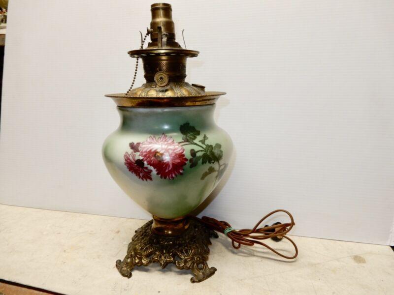 ANTIQUE GONE WITH THE WIND KEROSENE LAMP BASE