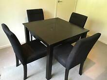 Dining Table Dark Brown 900x900 with 4 Chairs Cleveland Redland Area Preview