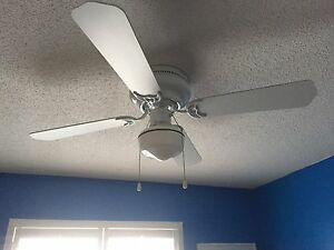 White ceiling fan  Peterborough Peterborough Area image 1
