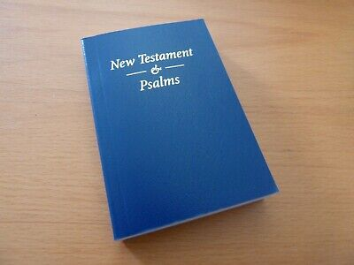Pocket Bible New Testament & Psalms, King James Authorised, Blue, FREE UK PandP