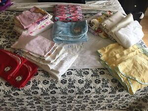 Crib bedding, receiving blankets and baby swaddlers