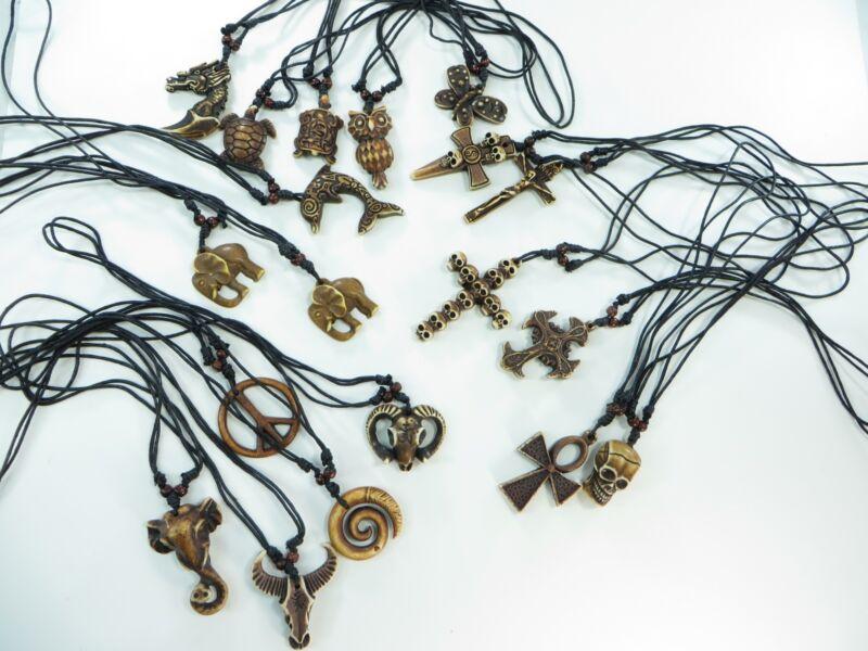lot of 20 pc pendant hippie gothic necklaces wholesale jewelry lot