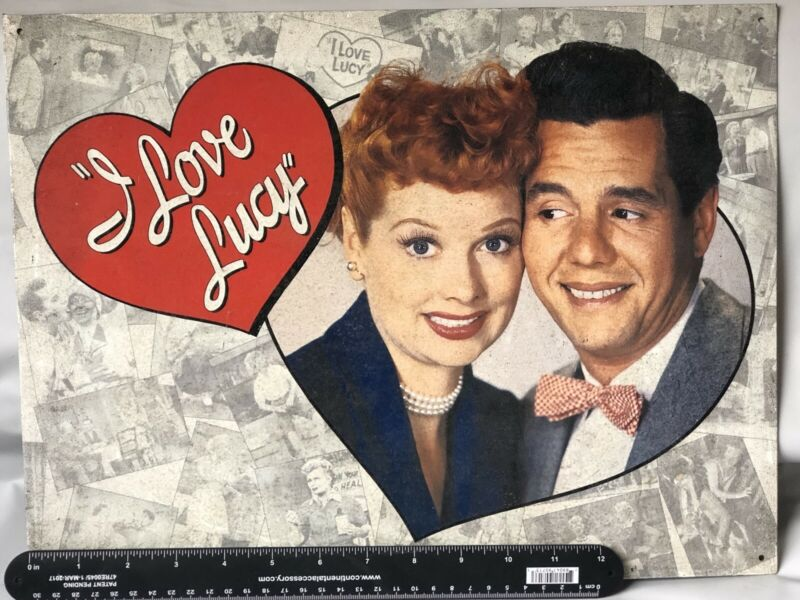 """I Love LUCY Tribute Vintage Style TIN SIGN 16""""x12 1/8"""""""
