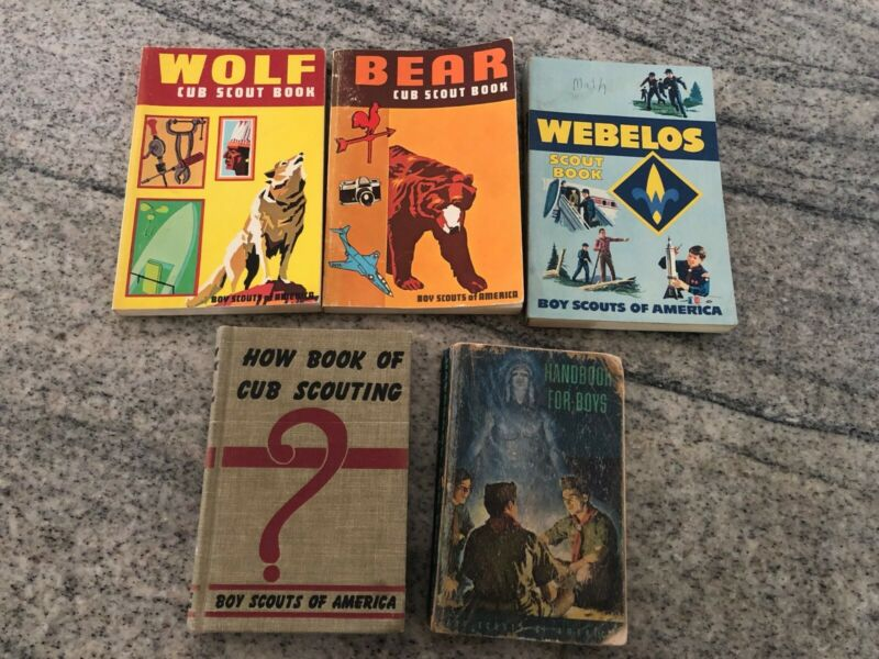 5 old Boy Scout Books