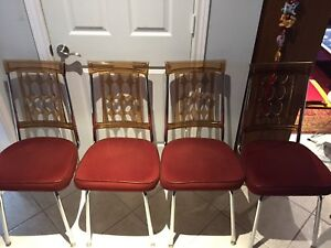 Vintage atomic lucite dining chairs - amazing condition