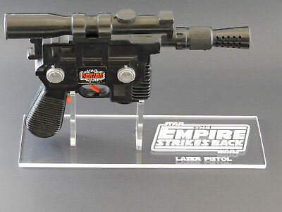Han Solo Blaster (1 x Acrylic STAND - Empire Vintage Han Solo Laser Pistol/Blaster - Right)