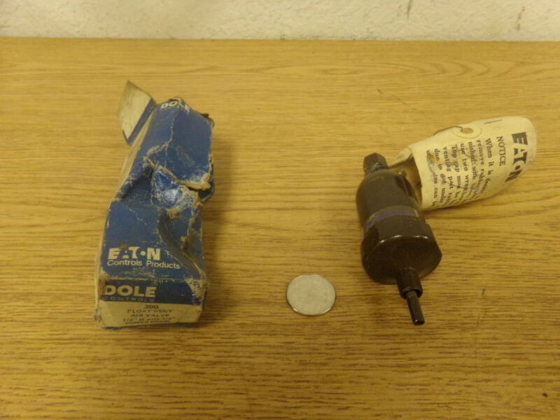 """NEW Eaton Dole Controls 200 Float vent Air valve 1/8 M 1/4"""" Copper Drain"""