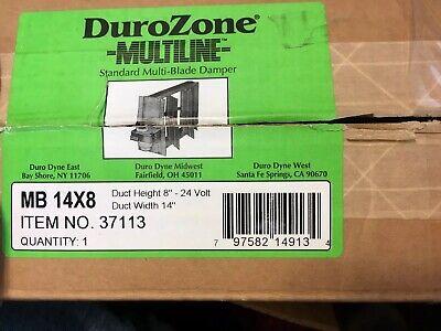 Dura Zone 37113 Multi-blade 14 X 8 Motorized Rectangular Air Hvac Damper 24v