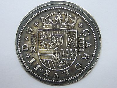 Click now to see the BUY IT NOW Price! 1683 BR CHARLES II 4 REALES SEGOVIA SPAIN SPANISH SILVER